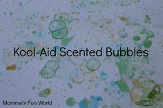 Momma's Fun World: Scented Bubble Art and Fun