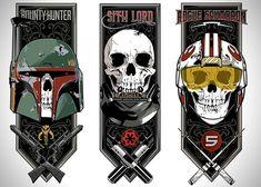 Star Wars Original Trilogy Triptych Art By Toby Gerber