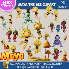 MAYA THE BEE clipart png images Digital Cliparts Stickers