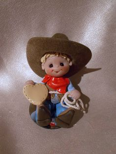 cowboy birthday cake topper decoration Christmas by clayqts