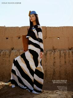 """Impressions Of Morocco"" Sung Hee Kim in Gucci for Vogue China July 2014 by Hans Feurer"