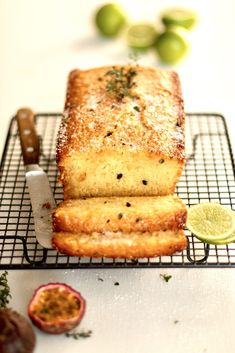 PASSIONFRUIT, LIME AND THYME LOAF | Christine Capendale Cakes and Catering Afternoon Tea Recipes, Loaf Cake, Cake Batter, Sugar And Spice, Yummy Cakes, Cornbread, Catering, Cake Decorating, Baker Baker