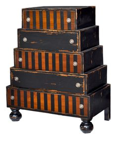 Chest of Drawers= have to remember this idea for future furniture painting inspiration. What a fun idea this is.