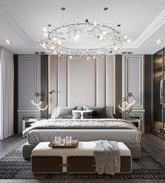 M . BEDROOM on Behance Modern Luxury Bedroom, Luxury Bedroom Design, Master Bedroom Interior, Modern Master Bedroom, Luxury Rooms, Master Bedroom Design, Luxurious Bedrooms, Interior Design, Modern Classic Bedroom