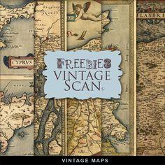 Far Far Hill: New Freebies Kit of Vintage Maps Free Digital Scrapbooking, Digital Scrapbook Paper, Digital Papers, Digital Paper Freebie, Map Compass, Art Journal Techniques, Digital Collage, Digital Art, Paper Tags