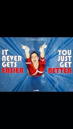 You get better everyday Gymnastics Equipment For Home, Gymnastics Camp, Gymnastics Tricks, Amazing Gymnastics, Gymnastics Pictures, Rhythmic Gymnastics, Gymnastics Sayings, Inspirational Gymnastics Quotes, Motivational Quotes