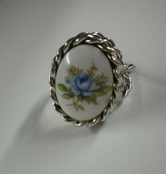 Sarah Coventry Rings | Sarah Coventry Vintage Blue Flower Ring by TooSweetMagnolias
