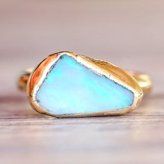 Raw Australian Opal Ring - www.indieandharper.com - bohemian gypsy festival jewellery boho jewelry - indie and harper