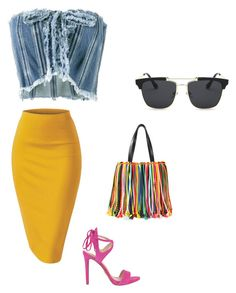 """""""Karrueche inspiredd"""" by kmdudley on Polyvore featuring Philosophy di Lorenzo Serafini, Emilio Pucci and GUESS"""
