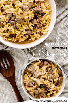 Quick and easy traditional homemade beef stroganoff made in the Instant Pot. Made with tender bite-sized chunks of beef and served in a classic and creamy sauce.
