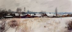 Winter Landscape, Tymoteusz Chliszcz on ArtStation at https://www.artstation.com/artwork/33dOm