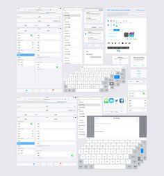 iOS 7 iPad Retina GUI Template