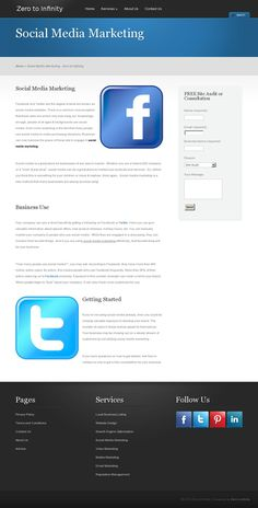 Social media is a great place for businesses of any size to market.  http://www.zticonsulting.com/services/social-media-marketing/