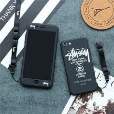 ステューシー stussy ブランド iphone8ケース 個性 iphoneXカバー アイフォン7プラス ハードカバー iphone6s pc製 個性 シンプル ブラック 若者向け