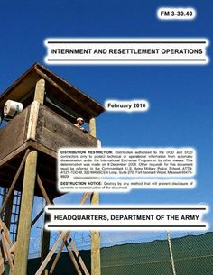 U.S. ARMY INTERNMENT AND RESETTLEMENT OPERATIONS-FM 3-39.40 by United States Army. $5.95