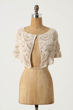 cute crocheted capelet