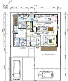 misakiのおうちづくりさんはInstagramを利用しています:「*間取り* 床面積約38坪 工事面積約42坪 . 前回の間取りのpostにたくさんのいいねありがとうございました!✨ #間取り図…」 House Layouts, Floor Plans, Flooring, How To Plan, Building, Interior, Room, Instagram, Yoshi