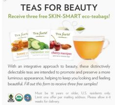 Free Tea Samples from Tea Forte