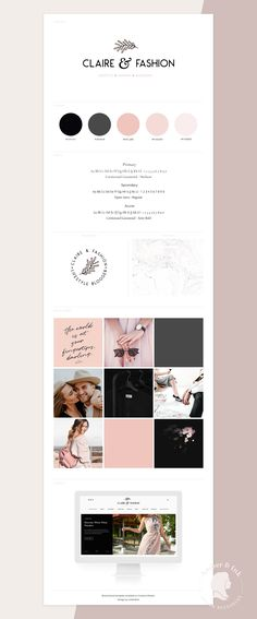 Brand Board Template: Claire&Fashion by amber&ink on @creativemarket