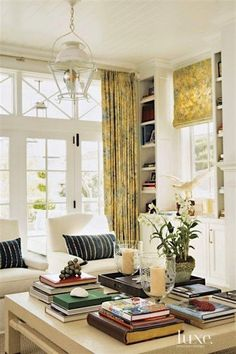 Contemporary White Living Room Detail with French Doors Transom Window Treatments, Transom Windows, Big Windows, French Door Coverings, Living Room Decor, Living Spaces, Living Rooms, Family Rooms, New Blue