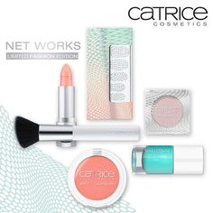 Mesh matters with the upcoming Limited Edition Net Works. Check the link in our bio for full product details. #limitededition #networks #catricecosmetics #makeup #beauty #colour #mint #apricot #nailpolish #lipstick #nailstickers #inspiredbyfashion  From the end of May until mid July 2016 – available in Germany, Austria, Switzerland, Hungary, Belarus, Russia, Greece, Spain. Launch dates may vary.