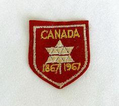 Canada Centennial Patch 1867-1967 Maple Leaf