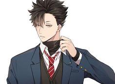Kuroo Haikyuu, Kuroo Tetsurou Hot, Manga Haikyuu, Haikyuu Fanart, Anime Manga, Kenma, Manga Art, Handsome Anime Guys, Hot Anime Guys