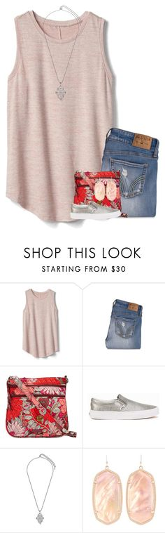 """""""By grace through faith."""" by your-daily-prep ❤ liked on Polyvore featuring Gap, Hollister Co., Vera Bradley, Vans and Kendra Scott"""