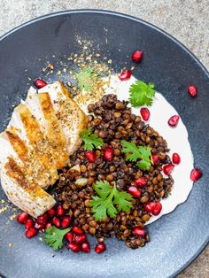 Chicken with Syrian lentils, labneh & za'atar recipe / A kitchen in Istanbul