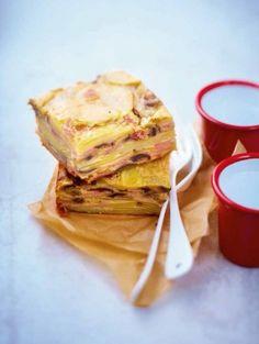 L'invisible pomme de terre, jambon et champignons
