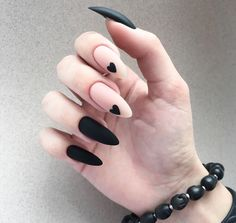 35 summer can also be recommended with Frosted nail style nails;bestnails Nails 35 summer can also be recommended with Frosted nail style Black Nail Designs, Acrylic Nail Designs, Heart Nail Designs, Almond Nails Designs, Stylish Nails, Trendy Nails, Fancy Nails, Edgy Nails, Classy Nails