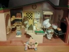 The dormice working at the bakery. Entry by Hannah Greenberg #SylvanianSummer
