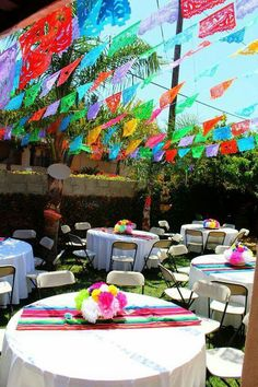 Quinceanera Party Planning – 5 Secrets For Having The Best Mexican Birthday Party Mexican Birthday Parties, Mexican Fiesta Party, Fiesta Theme Party, Birthday Party Tables, Party Themes, Party Ideas, 50th Birthday, Birthday Ideas, Themed Parties