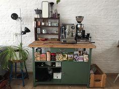 Home espresso bar. Coffee brew station