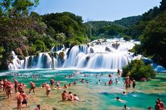 Skradinski Buk - Waterfall in Krka National Park, Central Dalmatia, Croatia