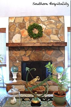 A Fall Mantel Makeover