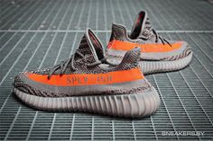 Adidas Yeezy 350 V2 Boost 550 Gray orange