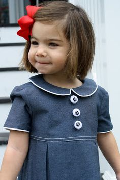 Enjoying early spring in a mimivail frock Little Girl Dresses, Little Girls, Girls Dresses, Girly Girls, Navy And White Dress, Pedobear, Looking Dapper, Little Fashionista, Kid Styles