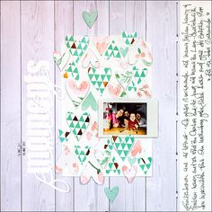 Scrapbooking layout dcwv- copper luxury