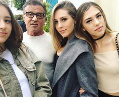 Family Love!: Sylvester Stallone Shares a Selfie With His Three Stunning Daughters — See the Pic!