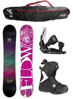 2014 FLOW SILHOUETTE 151 Womens Snowboard+FLOW Binding+Flow BOA Boots+BAG NEW #Flow