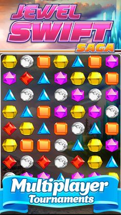 App Shopper: Awesome Jewel Swift - Multiplayer Match 3 Game Mania (Games)