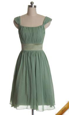 Green Strapless Ruffled Short Bridesmaid Dress VPBN909 [VPBN909]