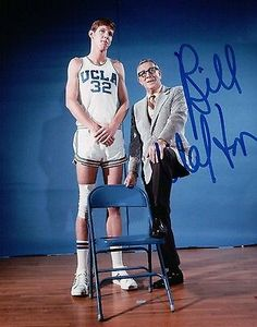 Bill Walton Hand Signed Autographed 8x10 Photo UCLA Photo with John Wooden COA