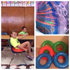 I wonder if this will work? I bought swim rings at dollar tree for my students to sit on. It's a similar concept as an exercise ball. The student can move and rock, but have to focus to balance. Classroom Setup, Classroom Design, Kindergarten Classroom, Future Classroom, School Classroom, Classroom Organization, Sensory Tools, Sensory Activities, Sensory Kids