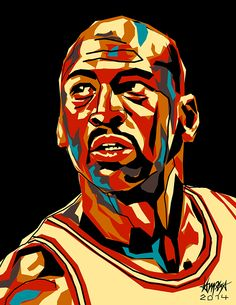 Michael Jordan on Behance by Dri Ilustre