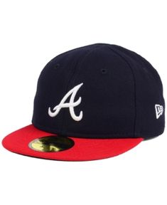 New Era Atlanta Braves Authentic Collection My First Cap, Baby Boys - Navy/Red 6