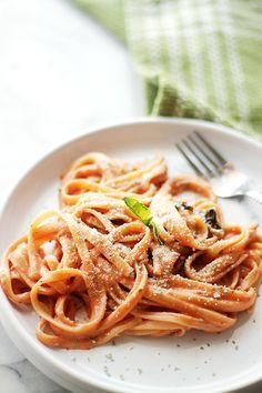 Creamy Tomato One Pot Pasta FoodBlogs.com