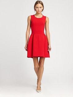 Valentino - Sleeveless Ribbed Dress - Saks.com