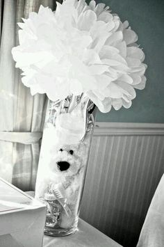 28 Ideas For Baby Shower Centerpieces For Boys Bear Center Pieces Girl Baby Shower Decorations, Baby Shower Centerpieces, Baby Shower Themes, Shower Ideas, Baby Shower Images, Baby Shower Signs, Baby Party, Baby Shower Parties, Teddy Bear Centerpieces